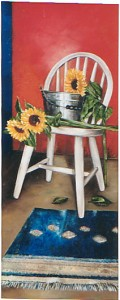 Sunflowers and chair